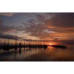 Sonnenaufgang 1 (Yachthafen-Föhr)